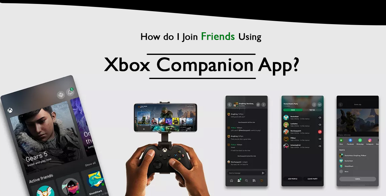 Join friends with xbox companion app