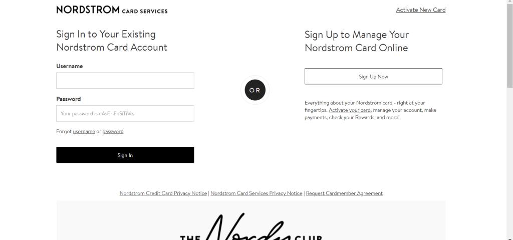 nordstromcard.com/activate